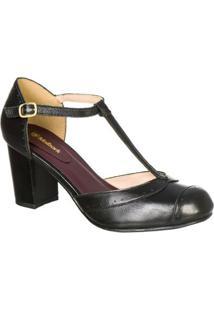 f9e1bdd6c1a Sapato Preto Retro feminino