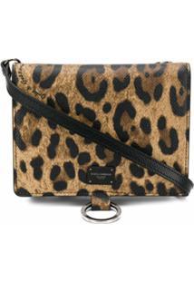 Dolce & Gabbana Bolsa Tiracolo Com Estampa De Leopardo - Marrom