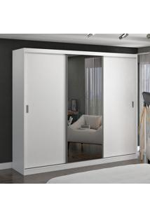 Guarda-Roupa Casal 3 Portas De Correr Com 1 Espelho 100% Mdf 774G4E1 Branco - Foscarini
