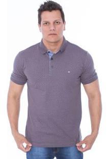 Camisa Polo Hiatto Pois Arapawa Masculino - Masculino-Cinza