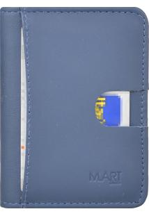 Carteira M.Art Slim Pelica 214M Azul-Marinho