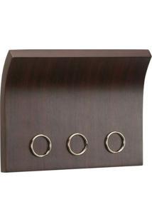 Organizador Porta Chaves E Correspondências Magnetter Madeira Magnético Umbra