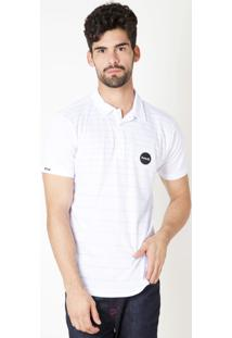 Camisa Polo Hurley Stripe Branca
