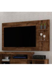 Painel Para Tv Extensível Dante Rústico Malbec Dj Móveis