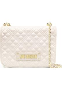 Love Moschino Quilted Shoulder Bag - Neutro