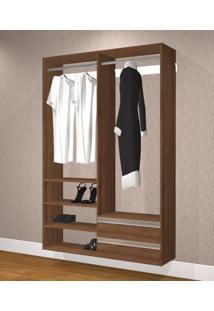 Guarda Roupa Casal Sem Portas Modelo Closet Kt1211 Avelã - Getama...