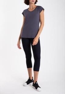 Camiseta Race Skin Fit Lygia E Nanny Feminina - Feminino-Azul