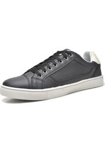 Sapatênis Sapato Casual Juilli Com Cadarço Masculino 04L Preto