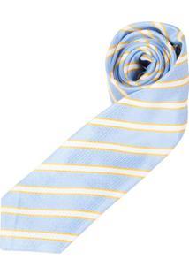 Gravata Azul Listrada - Uni