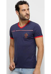 Camiseta Eagle Rock Manga Curta Masculina - Masculino-Marinho