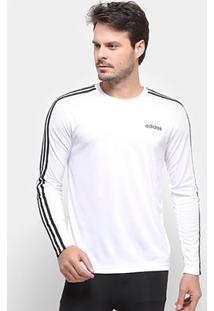 Camiseta Manga Longa Adidas D2M Clima 3S Masculina - Masculino