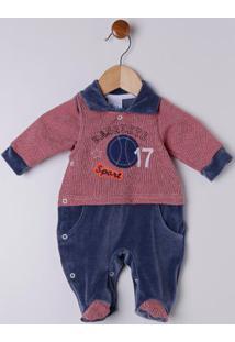 Enxoval Infantil Para Bebê Menino - Azul/Vermelho