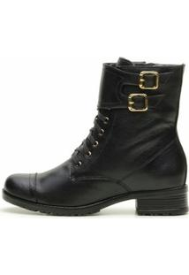 Bota Atron Shoes Media - Feminino-Preto