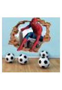 Adesivo De Parede Buraco Falso 3D Homem Aranha 03 - Eg 100X122Cm