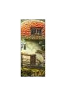 Adesivo Decorativo De Porta - Casa De Cogumelo - 341Cnpt Auto Colante