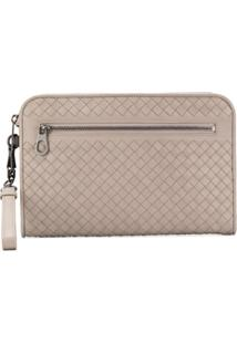 Bottega Veneta Woven Clutch Bag - Cinza