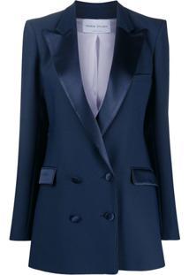 Hebe Studio Blazer Bianca Com Abotoamento Duplo - Azul