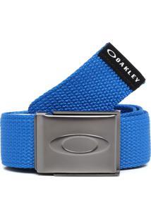 Cinto Oakley Mod Ellipse Web Belt Azul