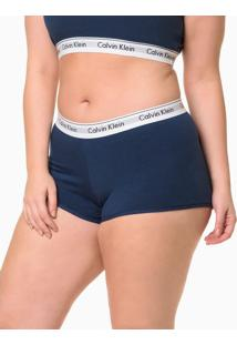 Calcinha Boyshort Moder Cotton Plus Size - Marinho - 2Xl