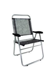 Cadeira De Praia Cancun Plus Zaka Alumínio Estampada Até 120 Kg Zebra