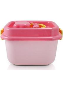 Caixa Organizadora Infantil De Plástico 8L Jacki Design - Unissex-Rosa
