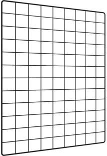 Memory Board L3 Store Quadro De Fotos Preto - 65Cm X 45Cm + 6 Mini Prendedores - Kanui