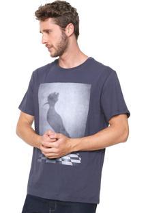 Camiseta Reserva Xadrez Azul-Marinho