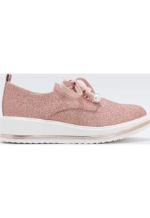 Sapato Infantil Oxford Com Glitter Fuzarka - Tam 28 Ao 35