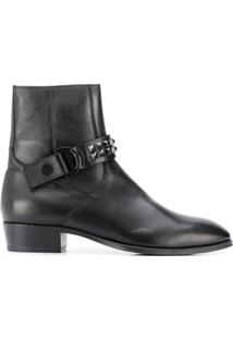 Represent Studded Strap Ankle Boots - Preto