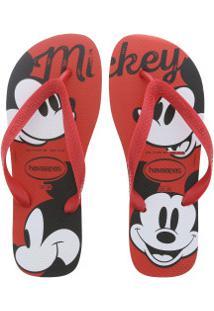Chinelo Havaianas Top Disney Cf Mickey - Masculino - Vermelho