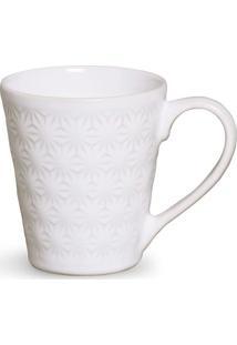Caneca Manish Cerâmica 280 Ml Branco Porto Brasil