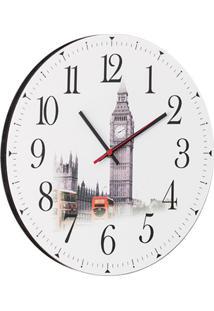 Relógio De Parede Londres Branco