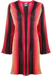M Missoni Striped Knitted Cardigan - Vermelho