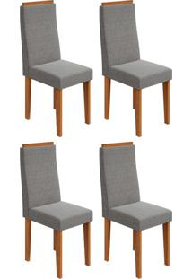 Conjunto Com 4 Cadeiras Dafne Rovere E Cinza