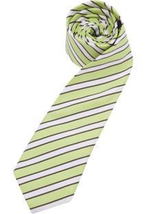 Gravata Verde Listrada - Uni