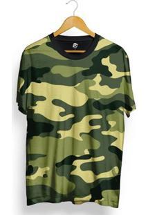 Camiseta Bsc Full Print Green Camo - Masculino-Verde