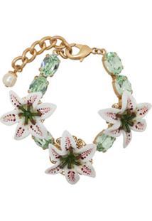 Dolce & Gabbana Pulseira Com Aplicações Florais - Verde