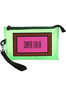 Necessaire Santa Lolla Pvc Colors Feminina - Feminino-Verde