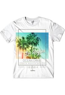 Camiseta Long Beach Santa Monica 1984 Sublimada Masculina - Masculino-Branco
