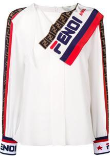Fendi Blusa Com Logo - Branco