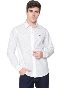 Camisa Yachtsman Reta Estampada Branca
