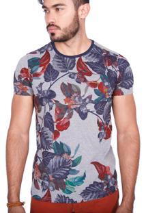 Camiseta Rota Do Mar Floresta Tropical Vermelho