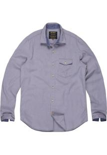Camisa Khelf Oxford Cinza