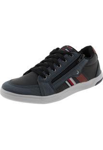 Sapatênis Masculino Preto/Jeans Ped Shoes - 61000