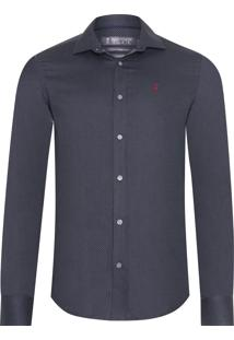 Camisa Masculina Renaux - Cinza