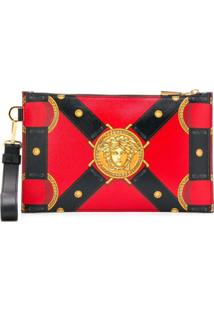 Versace Clutch Estampada - Vermelho