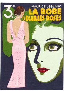 Olympia Le-Tan Clutch 'La Robe D'Ecailles Roses' - Azul