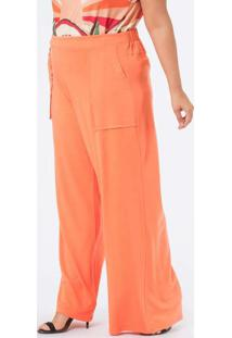 Calça Almaria Plus Size Munny Pantalona Lisa Laran
