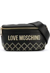 Love Moschino Pochete Com Tachas - Preto