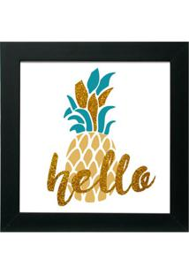 Quadro Decorativo Hello Preto